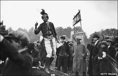 Ras Prince Monolulu at the Epsom Derby, 1923