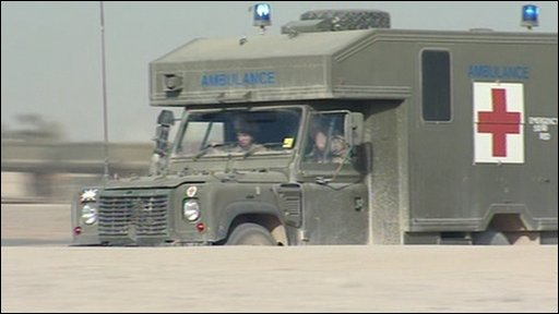 Ambulance in Camp Bastion, Afghanistan
