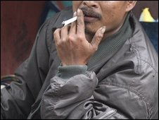 Indonesian man smoking (file image)