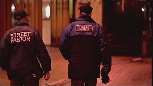 Street Pastors in Basingstoke - teams of Christians on patrol.