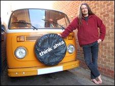 Dave Richards next to his camper van