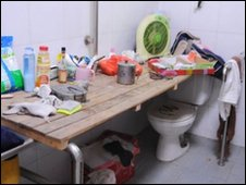 Living in a toilet in China