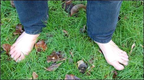 Dave Richards' feet