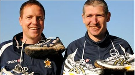 Jez and Matt notched up 260 miles last year