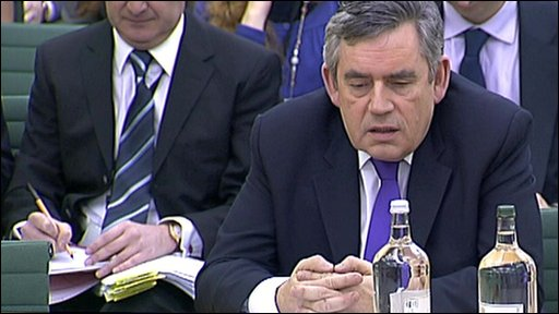 Gordon Brown addresses House of Commons Liaison Committee