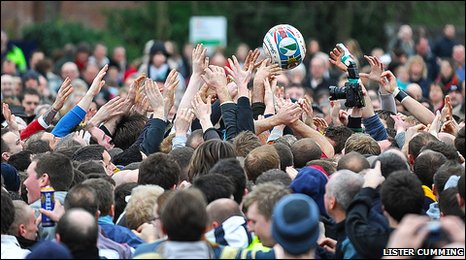 Royal Ashbourne Shrovetide Football