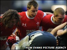 Adam Jones, Matthew Rees and Gethin Jenkins