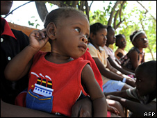 One of the 33 children who US missionaries attempted to take out of Haiti (31 January 2010)