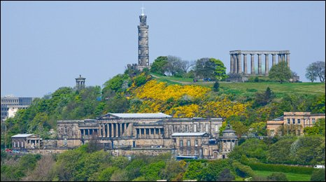 Royal High School building and Calton hill
