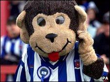 HAngus, the mascot for Hartlepool United Football Club