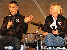 Virgin Racing's Nick Wirth and Sir Richard Branson