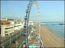 An artist's impression of what the Brighton O Ferris wheel may look like