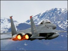 An F15E jet over Alska (file picture)