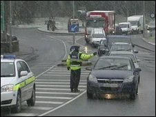 Checkpoints have been set up near the border in Donegal