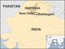 Map of Ballabgarh, Northern India