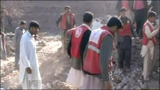 Scene of the blast in the Lower Dir area