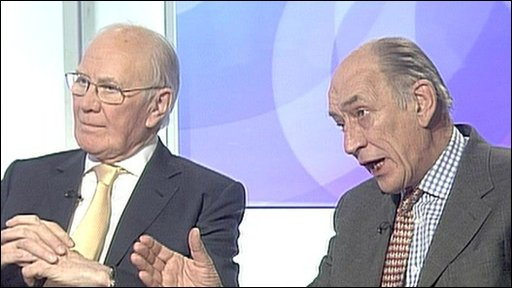 Sir Menzies Campbell and Sir Mike Jackson