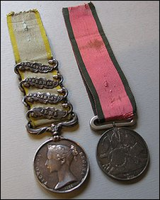Trooper Pearson's medals