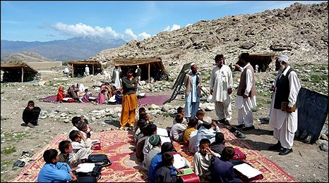 Outdoor school in Afghanistan