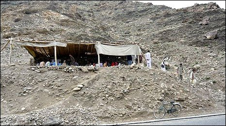 Afghan school on a hillside