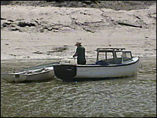Fishing on the Taw estuary