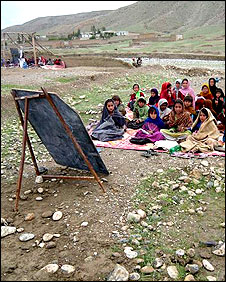 Outdoor Afghan school