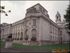 Cardiff civic centre buildings