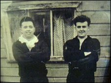 Ted McKibbin outside the shed that became his gym in 1957