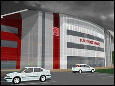 Artist's impression of new east stand