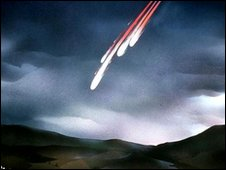 Artist's impression of a meteorite fall