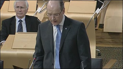 Finance Secretary John Swinney led the debate