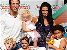 Alex Reid with Katie Price and her family