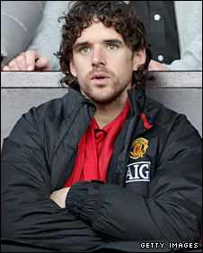 Manchester United midfielder Owen Hargreaves