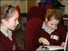School Reporters from  St Aidan's CE Technology College, Blackpool, Lancashire