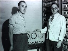 William Renwick and Maurice Wilkes, Mercury delay lines, Computer Lab/ University of Cambridge