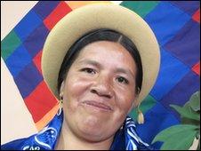 Bolivian Justice Minister Nilda Copa