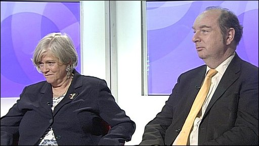 Ann Widdecombe and Norman Baker