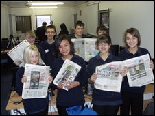 School Reporters from Diss High School, Norfolk