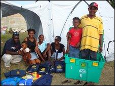Haiti family