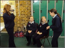 School Reporters at Rainham School for Girls, Gillingham, Kent