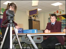 School Reporters at The Holy Family Catholic School, Keighley, West Yorkshire