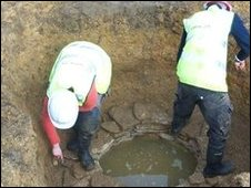 Roman well discovered on the Hopland's site in Sleaford