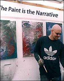 Mike Juggins in his studio