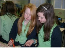 School Reporters at Guildford County School, Guildford, Surrey