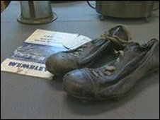 Sir Stanley Matthews' boots from the 1953 FA Cup final