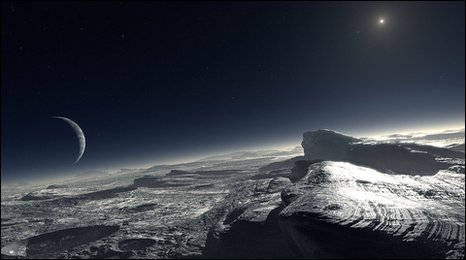 Artist's impression of Pluto's surface (ESO / L. Calcada)