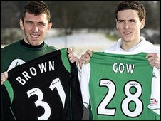 Hibs' new signings Mark Brown and Alan Gow