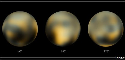 The newest images of Pluto taken by the Hubble Space Telescope