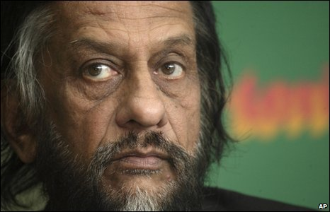 Rajendra Pachauri at a news conference in Delhi, 21 January