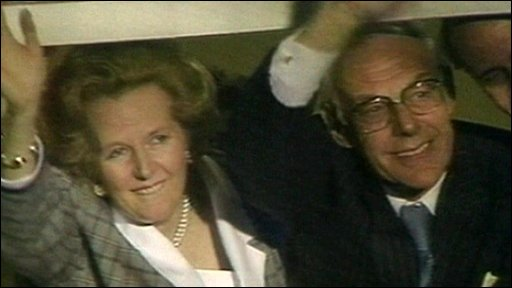 Margaret and Dennis Thatcher